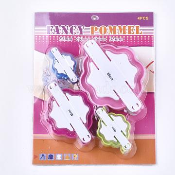 DIY ABS Plastic Knitting Loom for Making Pom Pom, Floriation Tools, Pom Pom Maker, Mixed Color, 50~104x29~77x26~33mm; 4pcs/set(X-TOOL-T006-30)