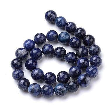 Natural & Dyed Sodalite Bead Strands(G-R412-13-6mm)-2