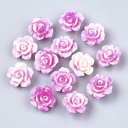 perles de corail synthétiques, teints, fleur, camélia, 12x12x7 mm, trou: 1 mm(X-CORA-S026-21B-03)