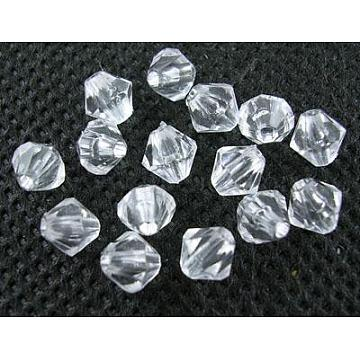 8mm Clear Bicone Acrylic Beads