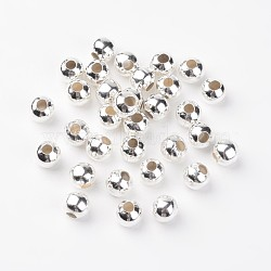 Spacer Beads, Iron, Silver Color Plated, 10mm, hole: 4mm(E189Y-S)