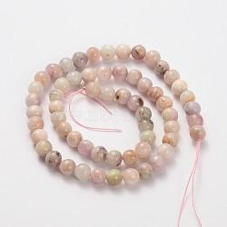 """Brins de perles rondes en kunzite / spodumène de pierres précieuses naturelles, 6mm, trou: 1mm; environ 60 pcs/chapelet, 15.3""""(G-O030-6mm-06)"""