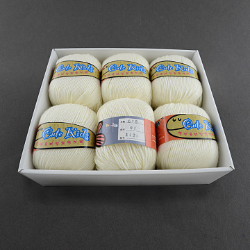 2mm White Cashmere+Orlon+PAN Fiber Thread & Cord