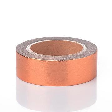 DIY Scrapbook Decorative Adhesive Tapes, SandyBrown, 15mm; 10m/roll(DIY-K001-D-04)