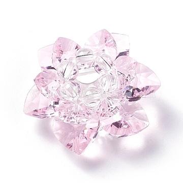 35mm PearlPink Flower Glass Beads