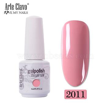 8ml Special Nail Gel, for Nail Art Stamping Print, Varnish Manicure Starter Kit, Pale Violet Red, Bottle: 25x66mm(MRMJ-P006-G011)