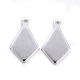 304 Stainless Steel Stamping Blank Tag Pendants(STAS-H040-1-S)-1