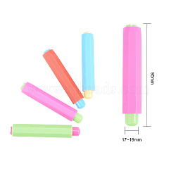 Plastic Folder Chalk, Office Blackboard Writing Tools, Mixed Color, 95x17~19mm; Inner Diameter: 8mm(AJEW-MSMC005-06)