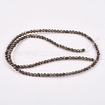3mm DarkKhaki Round Pyrite Beads