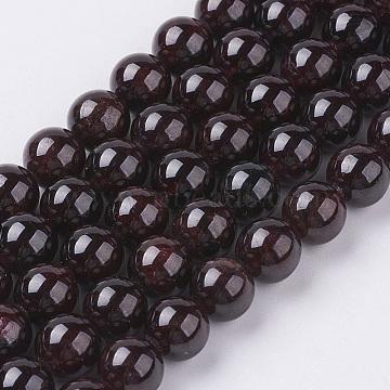 8mm DarkRed Round Garnet Beads