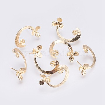 Real Gold Plated Brass Stud Earrings