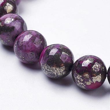 Natural Pyrite Beads Strands(G-K181-02-I03)-3
