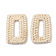 Handmade Reed Cane/Rattan Woven Linking Rings(X-WOVE-Q075-19)-1