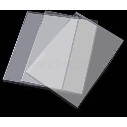 Couvertures en plastique transparent, couvercles de boîte à bijoux, clair, 35.5x24.5x1.9 cm(ODIS-R005-01)