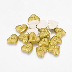 Cabochons acryliques colorés, composants valentine artisanat fournissent, cœur, lightgreen, longueur d'environ 16 mm ,  largeur de 14 mm, épaisseur de 4mm(PAB939Y-7)