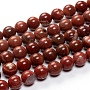 Natural Red Rainbow Jasper Beads Strands, Round, 8mm, Hole: 0.8mm; about 49~50pcs/strand, 15.94 inches(40.5cm)