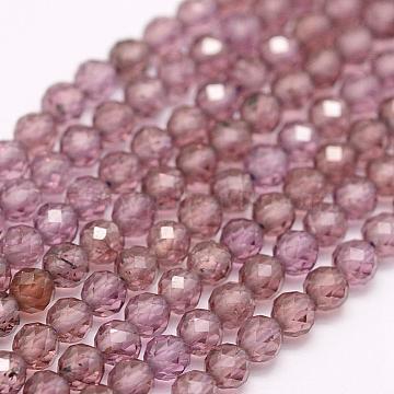 3mm RosyBrown Round Garnet Beads