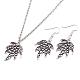 Zinc Alloy Coconut Leaf Jewelry Sets(SJEW-BB16592)-1