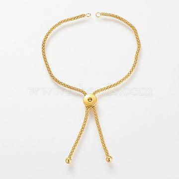 Brass Slider Bracelets Making, Golden, Fit for 2mm rhinestone,  5 inches~5-1/8 inches(125~130mm)(X-KK-T014-140G)