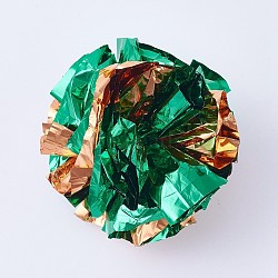 пвх кольцо бумажный шарик, зеленый, 63~66 mm(MP-TAC0002-02B)
