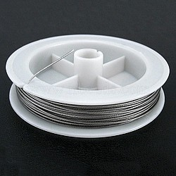 Tiger Tail Wire, Nylon-coated Steel, Silvergray, 0.8mm; about 10m/roll(X-L0.8MM01)