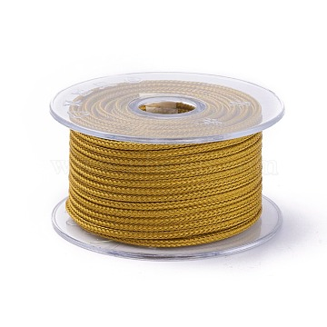 Braided Steel Wire Rope Cord, Jewelry DIY Making Material, with Spool, Dark Khaki, 3mm, about 54.68 yards(50m)/roll(OCOR-G005-3mm-D-28)