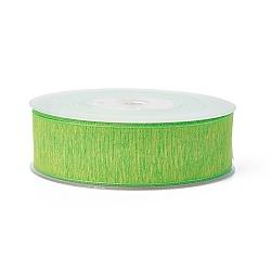 rubans de polyester, lime, 1-1 / 2 (38 mm); à propos de 100 yards / rouleau (91.44 m / roll)(SRIB-L051-38mm-C001)