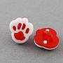 Red Acrylic Button(BUTT-Q022-A-11)