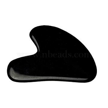 Natural Black Obsidian Gua Sha Boards, Scraping Massage Tools, Gua Sha Facial Tools, Heart, 71~73x48~55x5~6mm(X-G-J306-03C)