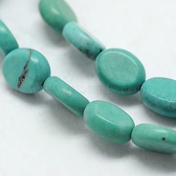 9mm DarkCyan Oval Synthetic Turquoise Beads