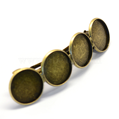 Antique Bronze Iron Hair Barrettes