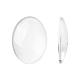 Transparent Oval Glass Cabochons(X-GGLA-R022-30x22)-1