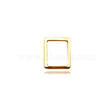 Décorations d'art à ongle en alliage, rectangle, or, 5x6mm(MRMJ-T003-52-G)