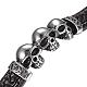 Men's Braided Leather Cord Bracelets(BJEW-H559-18B)-2