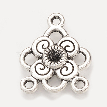 Antique Silver Flower Alloy Chandelier Components Links