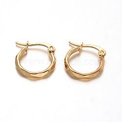 304 boucles d'oreilles en acier inoxydable, boucles d'oreilles hypoallergéniques, or, 16x15x2.5 mm, pin: 1 mm(X-EJEW-D195-G)