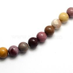 """Pierres gemmes de Mookaite rondes et naturelles , 4mm, trou: 0.8mm; environ 97 pcs/chapelet, 15.5""""(G-O047-12-4mm)"""