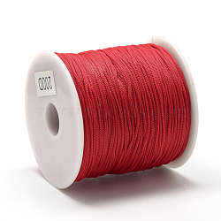 Cordons polyester, rouge, 0.8 mm; environ 120~130 m/rouleau(OCOR-Q037-03)