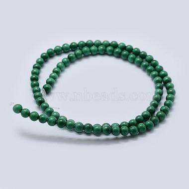Natural Malachite Beads Strands(G-F571-27AB1-8mm)-2