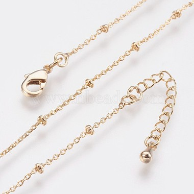 Long-Lasting Plated Brass Cable Chain Necklaces(X-NJEW-K112-09G-NF)-4