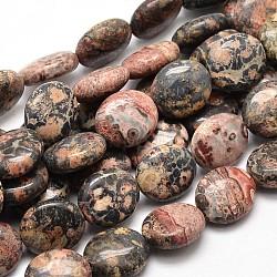"""Jaspe en peau de léopard naturel, 14x12x5mm, trou: 1mm; environ 29 pcs/chapelet, 15.74""""(G-L289-07)"""