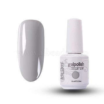 15ml Special Nail Gel, for Nail Art Stamping Print, Varnish Manicure Starter Kit, Silver, Bottle: 34x80mm(MRMJ-P006-A002)