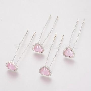 Silver LavenderBlush Acrylic Hair Forks