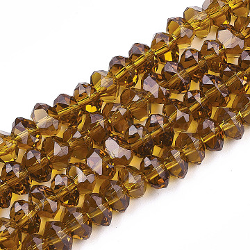 6mm DarkGoldenrod Triangle Glass Beads
