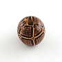 Coconut Brown Round Wood Beads(WOOD-R243-20mm-B08)