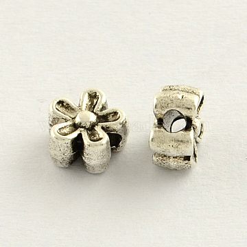 7mm Flower Alloy Beads