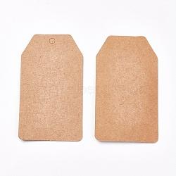 Ювелирные изделия, прямоугольные, бежевые, 80x45x0.3 мм; 50 шт / мешок(CDIS-WH0005-05A)