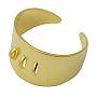 Golden Brass Ring Components(X-KK-Q036-G)