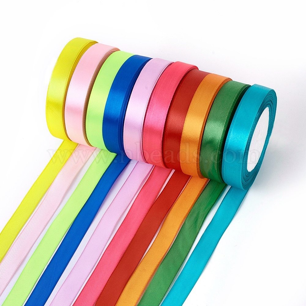 2 Single Face Satin Ribbon Price Per Roll//25 Yards in Off White Available in 10 Colors
