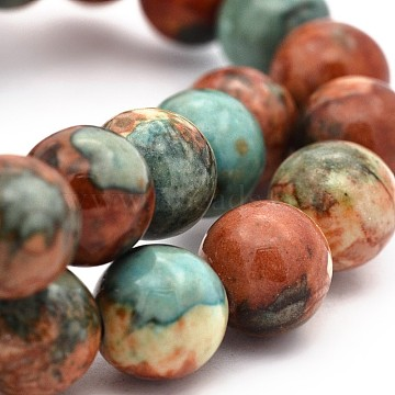 Synthetic Ocean White Jade Round Bead Strands, Dyed, Saddle Brown, 6mm, Hole: 1mm, about 64pc/strand, 15.7 inches(X-G-M165-6mm-04)